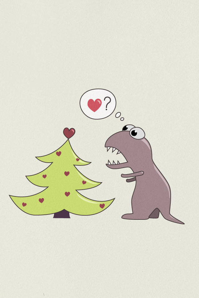 My Grinning Mind: Dinosaur and Christmas tree