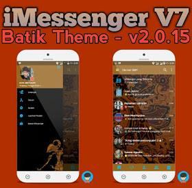 DOWNLOAD BBM MOD IMESSENGER V7 BATIK APK V3.0.1.25 Newest Update