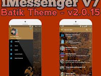 DOWNLOAD BBM MOD IMESSENGER V7 BATIK APK V3.0.1.25 Newest Update