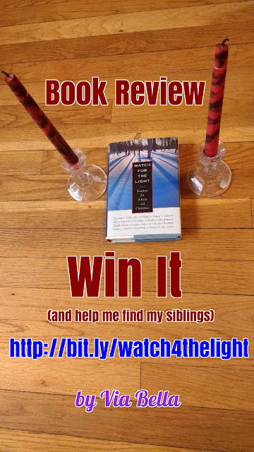 Watch For the Light This Advent Season (Win It) , book review, help me find my birth siblings, giveaway, enter to win