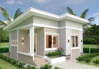 Tampak Depan Rumah Minimalis  ukuran 7x7 meter