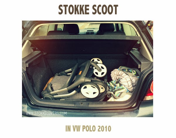 Stokke Scoot in VW Polo Boot