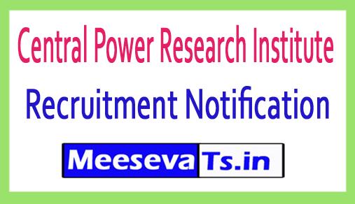 Central Power Research Institute CPRI Recruitment
