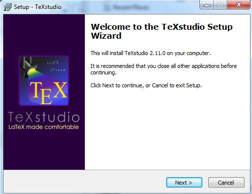 texstudio install package