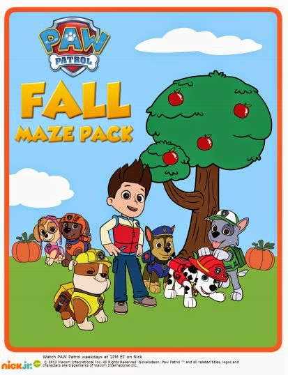 Paw Patrol Free Printable Activity Book.