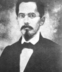 Retrato de José Santos Degollado en grises
