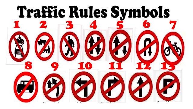 Traffic Rules Symbols