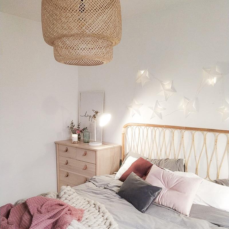 My nordic style: Mi dormitorio gris, rosa y burdeos