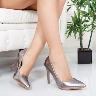 Pantofi Pricce gri eleganti pentru ocazii ieftini
