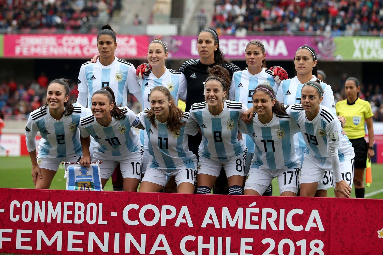 Formación de selección de Argentina ante Chile, Copa América Femenina 2018, 22 de abril