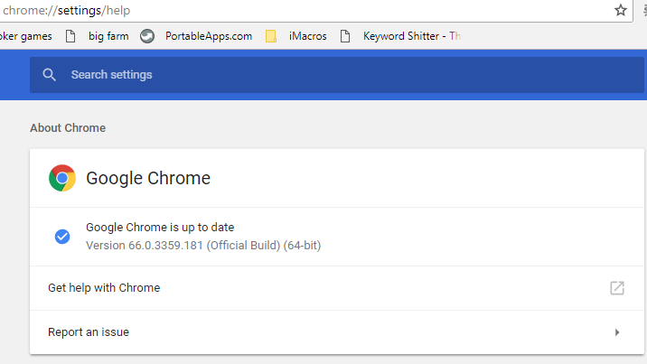 chrome plugins cannot be reached