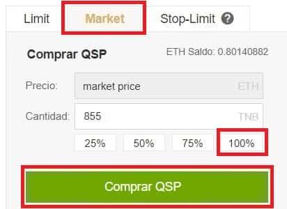 Criptomoneda Quantstamp (QSP) Token Coin Cómo Comprar