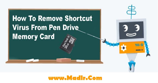 How To Remove Shortcut Virus From Pen Drive / Memory Card