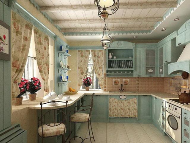 Cách bày trí nhà bếp nhỏ - lựa chọn màu sắc thông minh