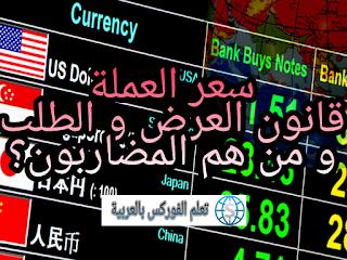 سعر العملة، قانون العرض و الطلب و من هم المضاربون
