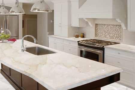 Permukaan Kitchen Set Dengan Polesan Marmer Pakar Properti
