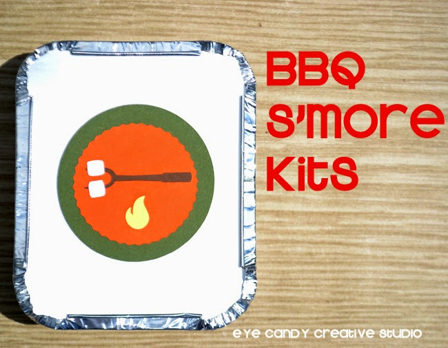 campfire, treats, s'mores, summer party, summertime, tin foil kits