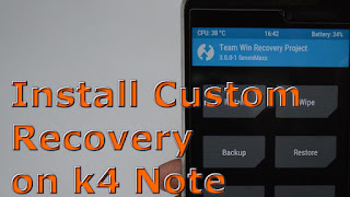TWRP for lenovo k4 note image showing alt text
