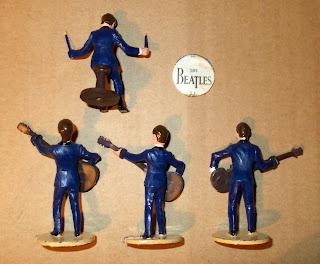 Beatles; George Harrison; John Lennon; Musicians; Paul McCartney; Pop Band; Pop Musicians; Ringo Star; Rock & Roll; Rock and Roll Stars; Rock N Roll; Rock Star Toy Figures; Small Scale World; smallscaleworld.blogspot.com; Subbuteo; Subbuteo Beatles;