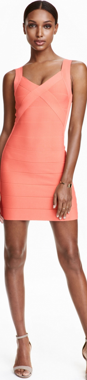 H&M Short Dress in Light Coral