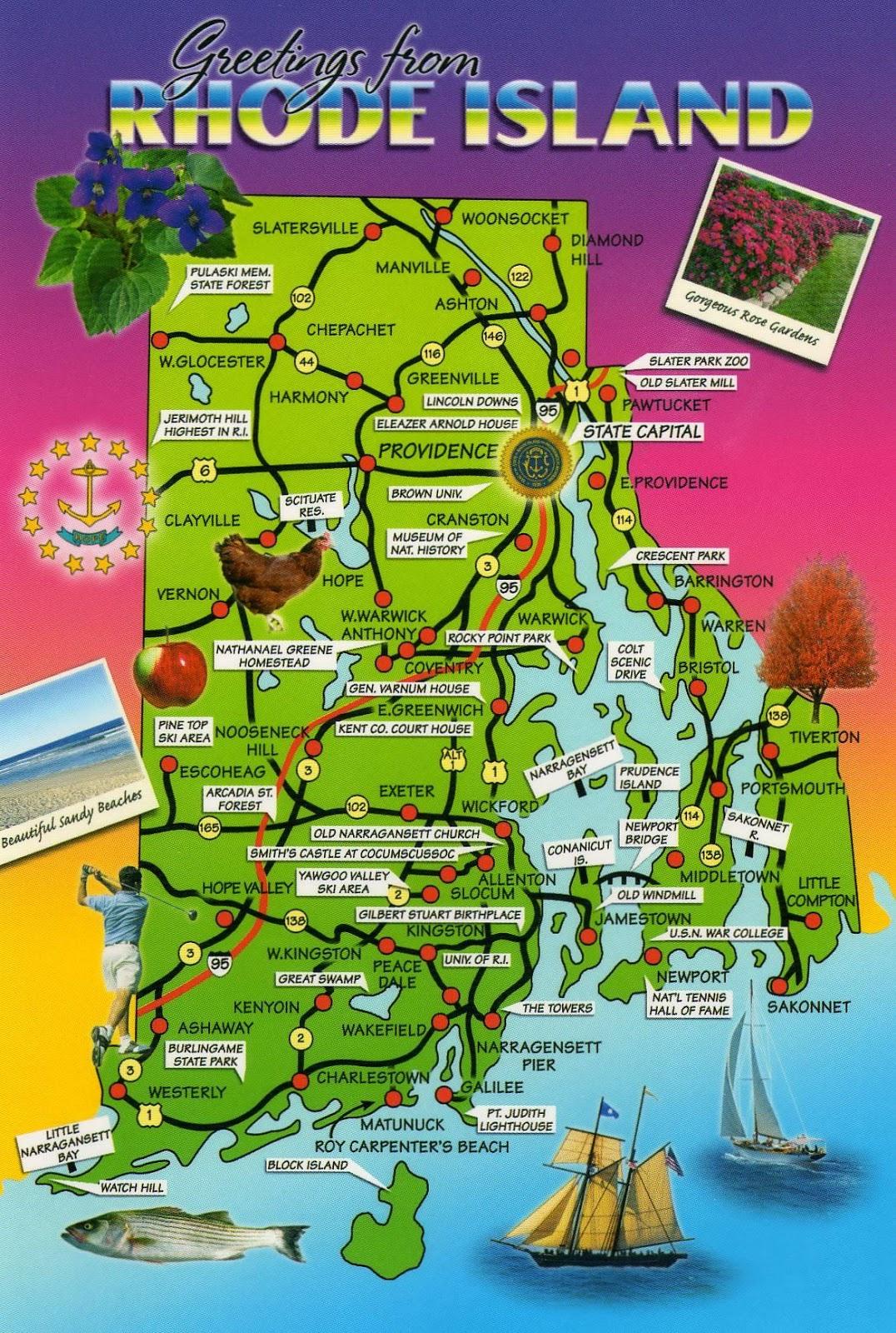 Rhode Island Map Us