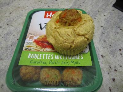 Muffins au maïs coeur de boulettes de légumes Herta Le Bon Végétal