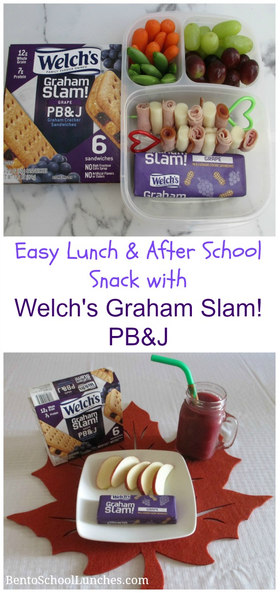 Lunch & After School Snack Made Easy with Welch's Graham Slam! Grape PB&J Grape