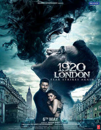 Poster Of 1920 London 2016 Hindi 720p DVDRip ESubs Watch Online Free Download Worldfree4u