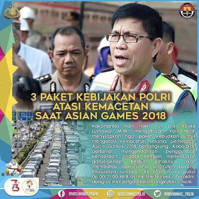 Dukung Asian Games 2018 Kamu Harus Tahu 3 Paket Kebijakan Korp Lalu Lintas Polri
