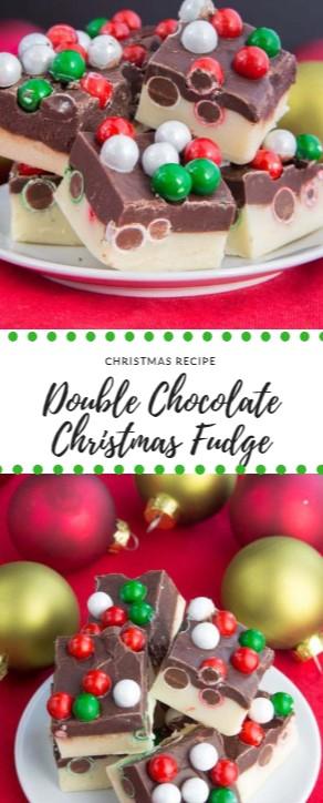 Double Chocolate Christmas Fudge #christmas #dessert