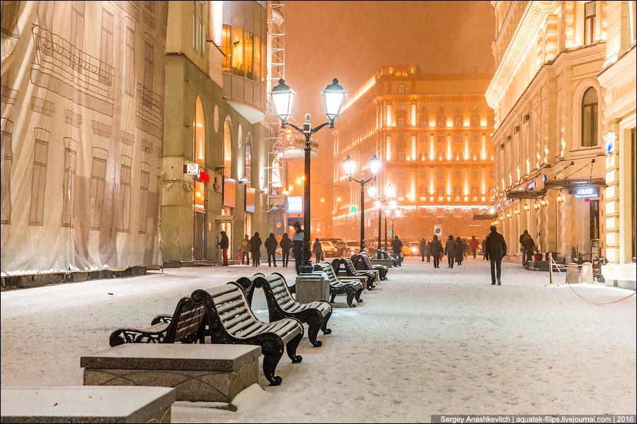 Москва заснеженная