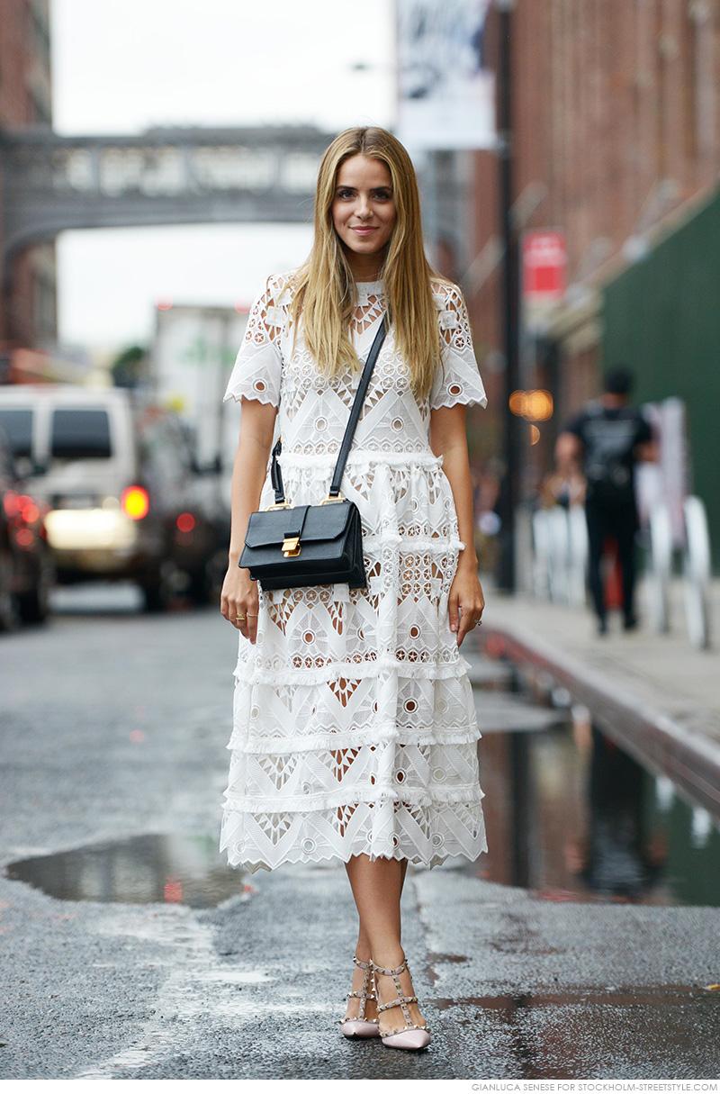 White Self Portrait Dress   Fashion Blogger
