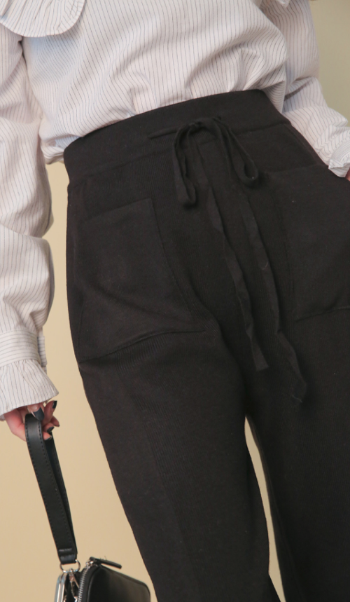 Knitted Drawstring Pants