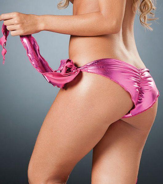 lindo shorts rosa metalico