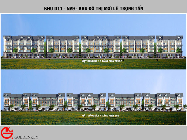 Phối cảnh đứng liền kề D11, NV9