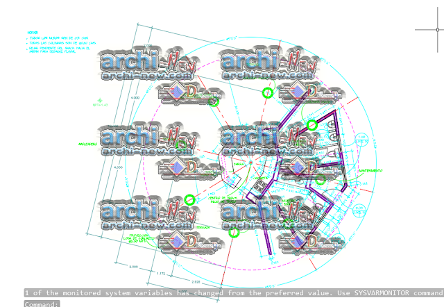 - Horizontal projections of the project Beach snack dwg