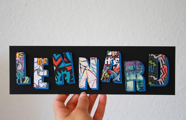 binedoro Blog, DIY, 3D-Buchstaben, Papier, Typografie, Graffiti, Muster