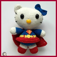 Kitty superwoman amigurumi