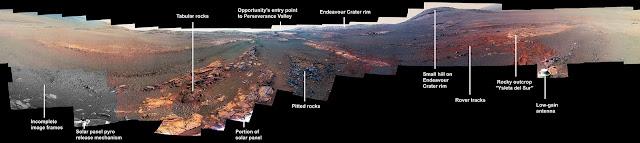 Última imagem panorâmica de Marte em 360 graus feita pela sonda Opportunity