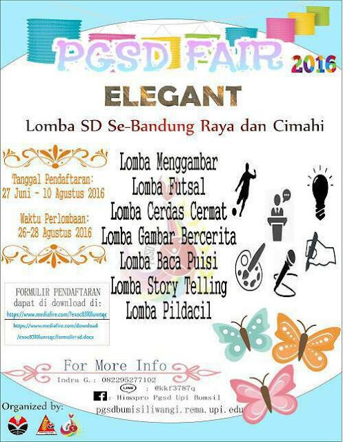 PGSD Fair 2016 : Lomba SD Bandung Raya dan Cimahi UPI