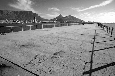 Cape Town, South Africa, V&A Waterfront, black and white