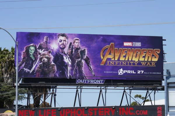 Avengers Infinity War Thor Guardians Galaxy billboard