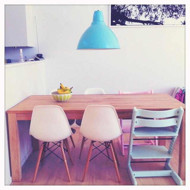 koboltblå trip trap stol