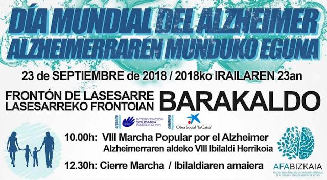 Cartel de la campaña de ISB sobre el Día Mundial del Alzheimer