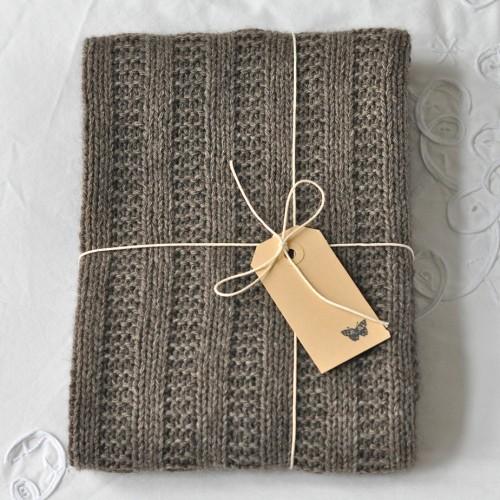 Garter Rib Baby Blanket - Free Pattern