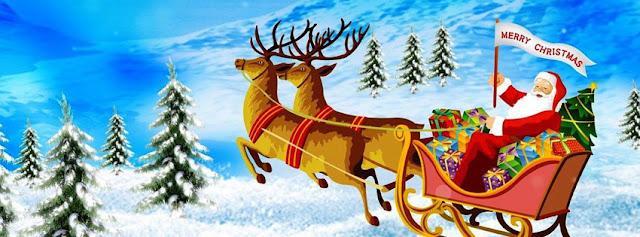 Merry Christmas Santa Facebook Cover Banner
