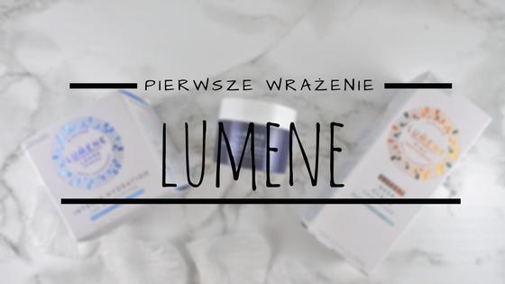 Pierwsze wrażenie: kosmetyki Lumene (maska oczyszczająca, krem na dzień, krem na noc).