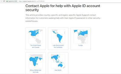 reset iTunes password