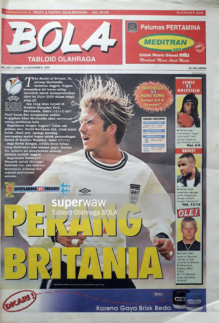 TABLOID BOLA COVER DAVID BECKHAM