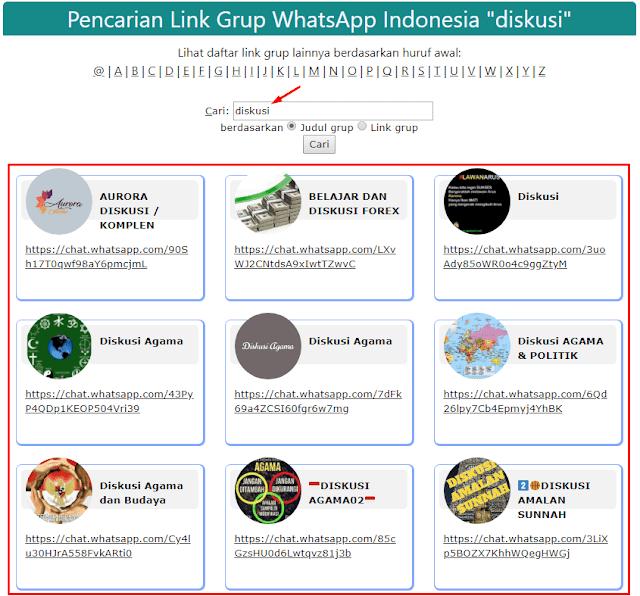 grup whatsapp diskusi